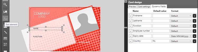 ID Card Designer Add Static & Dynamic text